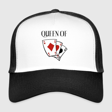 Queen of Card Games - Queen - Regina di Cuori - Trucker Cap