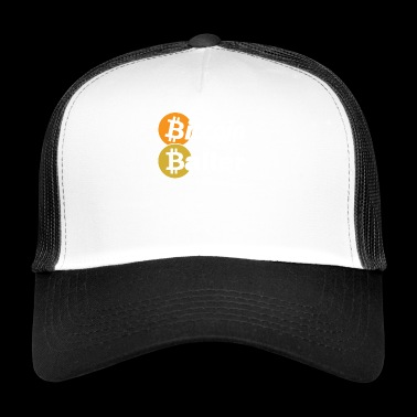 Bitcoin Baller Crypto Digital Currency Blockchain - Trucker Cap