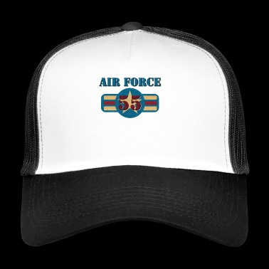 Vintage US Air Force USAF 55 Gift Military - Trucker Cap