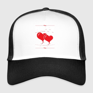 Happy Valentines Day Heart Love Holiday Pun - Trucker Cap