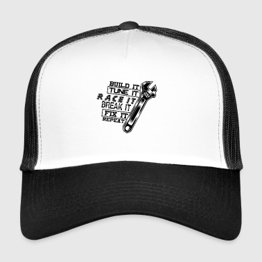 Construisez Tune il COURIR Break it Fix it - noir - Trucker Cap