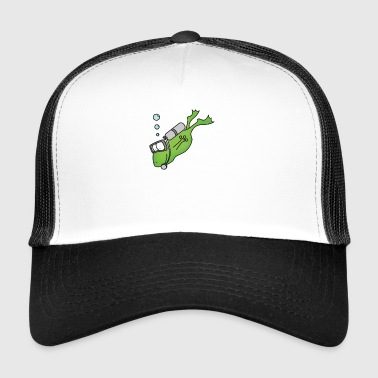 Frog Divers Print Gave T-shirt Funny Cool - Trucker Cap