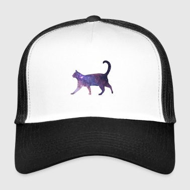 Space in Cat Fur Cat Milky Way Gift - Trucker Cap