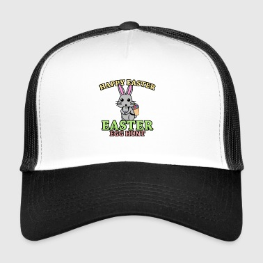 Easter eggs hunter Happy Easter gift bunny - Trucker Cap