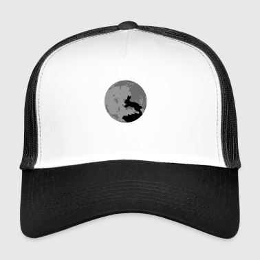 Bunny full moon gift Easter - Trucker Cap