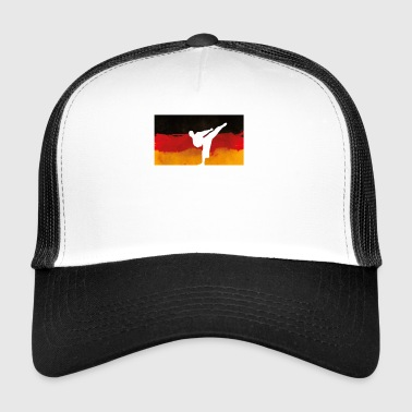 Germany Flag Kickboxer Gift Gift - Trucker Cap