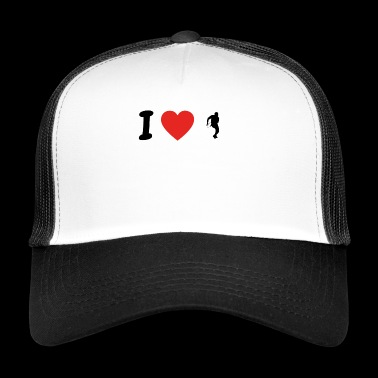 J'adore le football running back .png college ligue - Trucker Cap