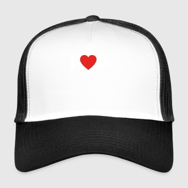 J'aime l'amour construction bulldozer, construction, ouvrier artisan - Trucker Cap