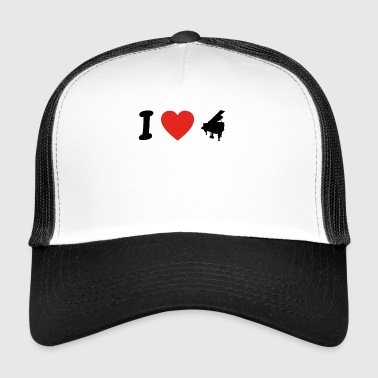 I love piano piano png - Trucker Cap