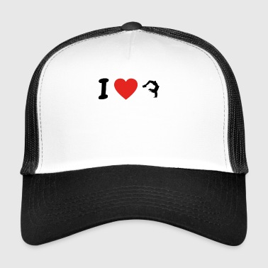 I love yoga meditation gymnastics png - Trucker Cap