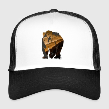 Grizzly ours brun ours en peluche Rocky Outdoor animal sauvage - Trucker Cap