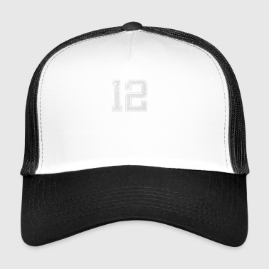 Number 12 Number twelve one two gift - Trucker Cap