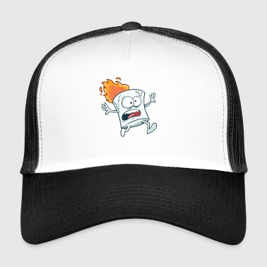 Marshmallow in flame - Trucker Cap