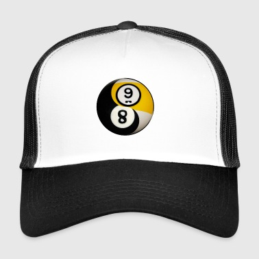 Yin Yang Billiard Pool Balls Eight And Nine - Trucker Cap