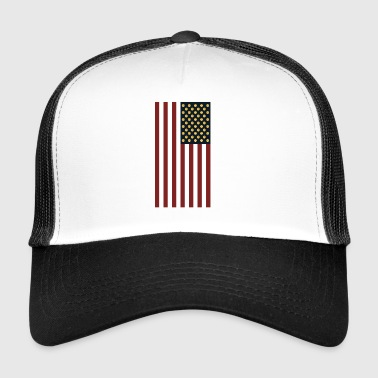 USA Flag With Dogecoin Logo- HODL Cryptocurrency - Trucker Cap