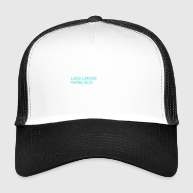 I Wear White Lung Cancer Awareness - Trucker Cap