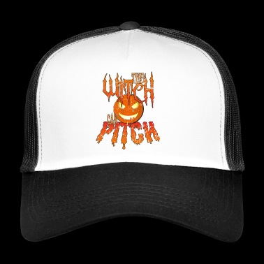 Halloween Baseball: This Witch Can Pitch! - Trucker Cap