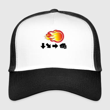 Video Games Gaming Fireball Design Gift - Trucker Cap