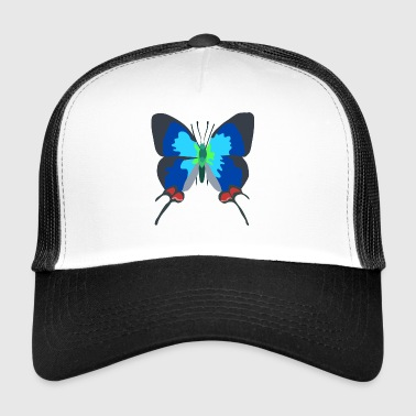 illustration papillon - Trucker Cap