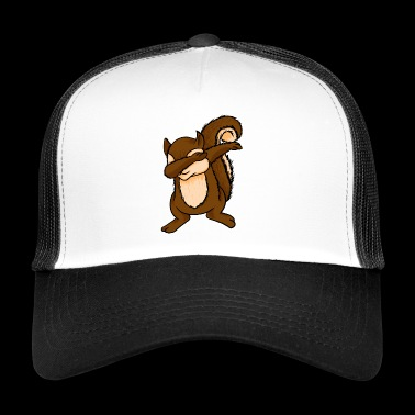 Dabbing Squirrel Funny Chipmunks Dab Animal Lover - Trucker Cap