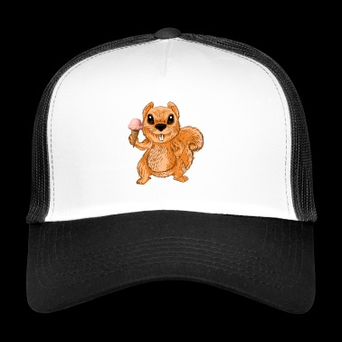 Ice-Cream Squirrel Chipmunks Cute Funny Animal - Trucker Cap