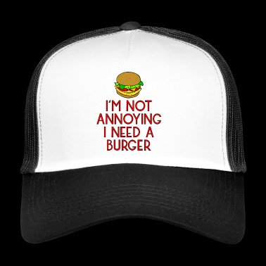 burger fast food imbiss beef hamburger pommes6 - Trucker Cap