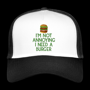 burger fast food imbiss beef hamburger pommes14 - Trucker Cap