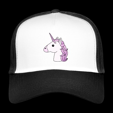 Unicorn head in lilac - Trucker Cap