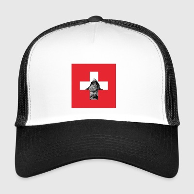 Switzerland Matterhorn flag - Trucker Cap