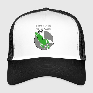 LET´S FLY TO OTTER SPACE - GRÜNE RAKETE - Trucker Cap