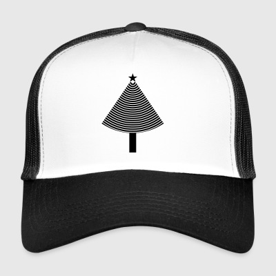 Abstrakt julgran - Jul - Trucker Cap