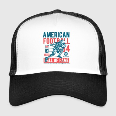 Football American Ball College Sports Touchdown USA - Trucker Cap