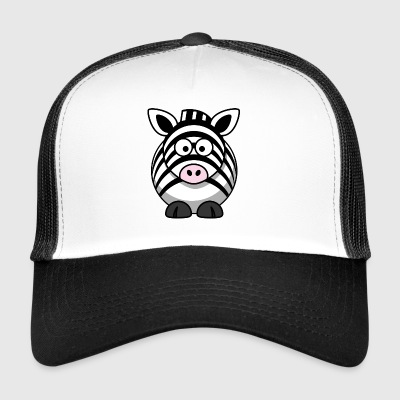 cartoon zebra 1 - Trucker Cap