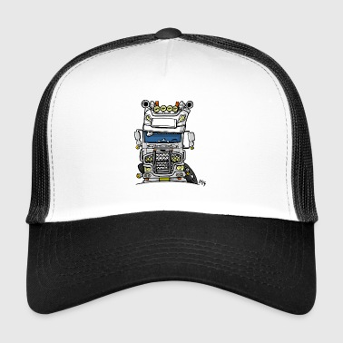 0613 daf fx on the road wit - Trucker Cap