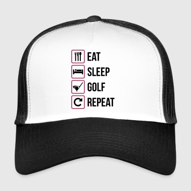 Eat Sleep Golf Gjenta - Trucker Cap