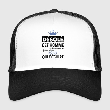 desole couple homme nee en 1980 - Trucker Cap