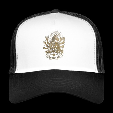 Unicorn Lotus tridente T-shirt weird - Trucker Cap