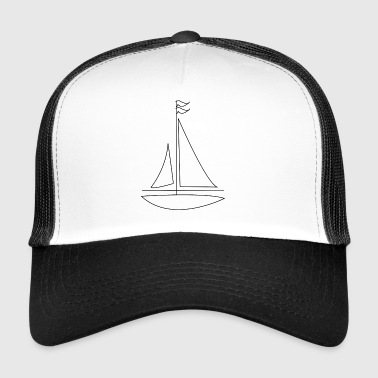 paddle boat sail boat rowing boat sailboat2 - Trucker Cap
