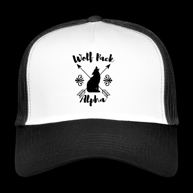 Wolf Pack Alpha. Gifts for Dad. Father. Be strong - Trucker Cap