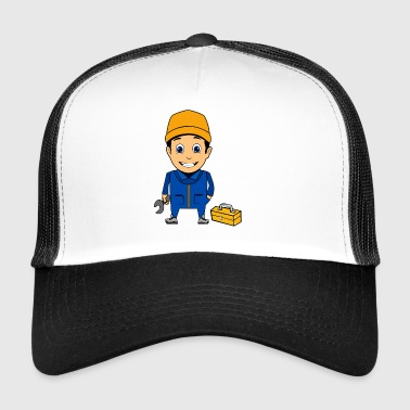 car mechanic mechanic plumber craftsman - Trucker Cap