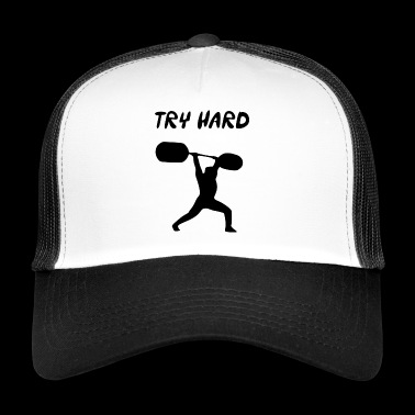 try hard - Trucker Cap