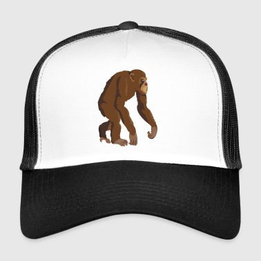Chimpanzee monkey ape - Trucker Cap