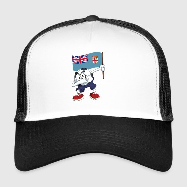 Fidji tamponnant Football - Trucker Cap