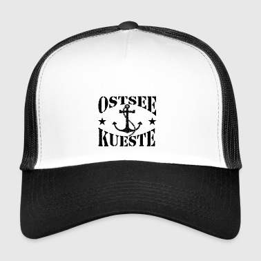 Baltic Sea coast - stenlogo_Anker_black - Trucker Cap