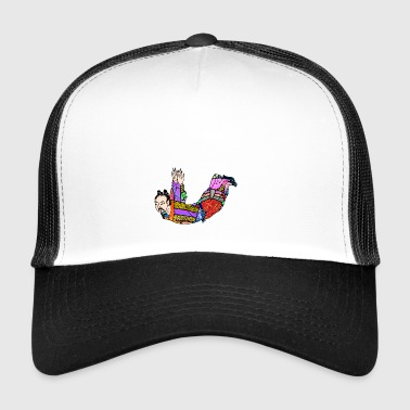 Chinese Qigong oefening houtsnede - Trucker Cap