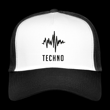Techno sound wave - Trucker Cap