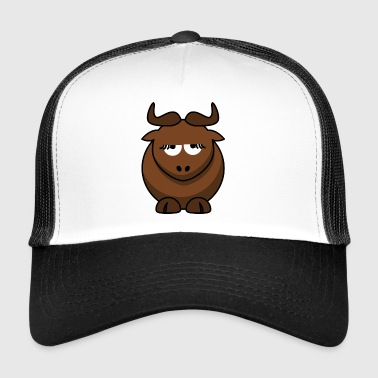 annoyed cow - Trucker Cap