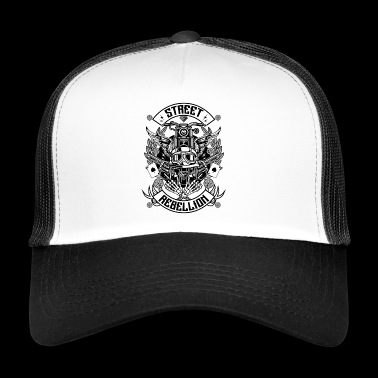 Motorcycle overhemd - Straat Rebellion (tri-color) - Trucker Cap