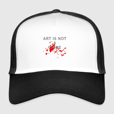 Art is not a crime (blood) - Trucker Cap