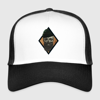 beard skull fisherman - Trucker Cap